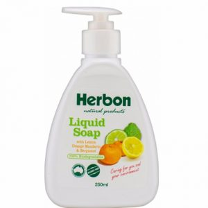 Herbon Liquid Soap Pump 250ml, Organic & Natural Liquid Soap Australia