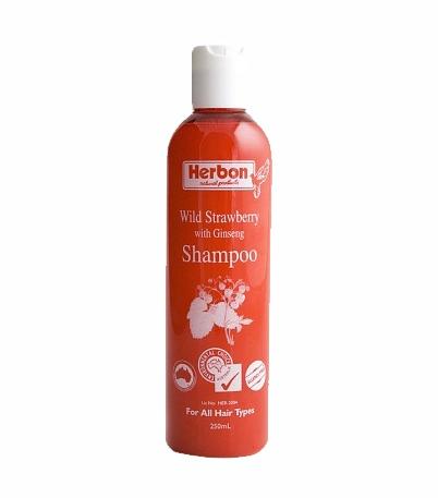 Wild Strawberry Shampoo 250ml, Best Organic Shampoo Australia
