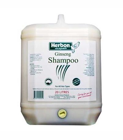 Herbon Ginseng Shampoo 20Lt, Organic & Natural Shampoo Australia