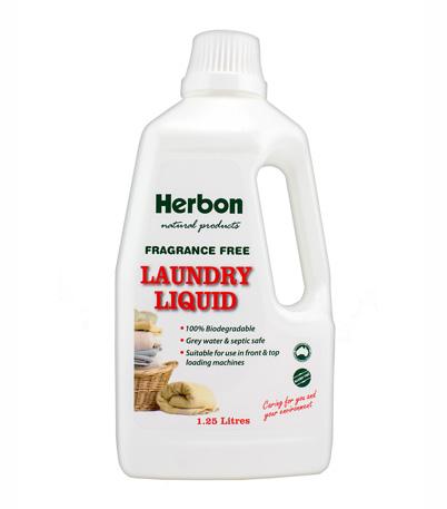 Herbon Laundry Liquid 1.25Lt Fragrance Free, Eco Friendly Detergent