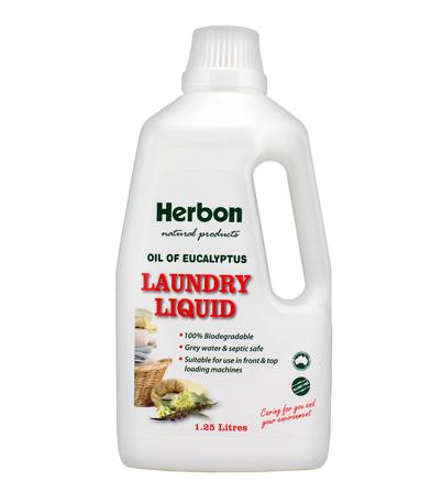 Herbon Laundry Liquid 1.25Lt, Natural Laundry Detergent Australia