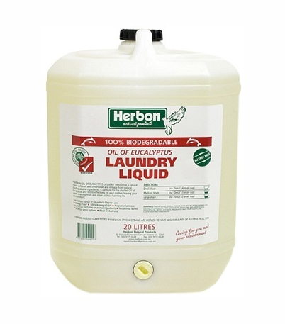 Herbon Laundry Liquid 20LtFragrance Free Laundry Liquid 20Lt, Australia Made, Eco-Friendly