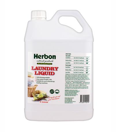 Herbon Laundry Liquid 5Lt, Eco Friendly Laundry Detergent in Australia