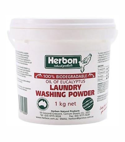 Herbon Fragrance Free Laundry Washing Powder 1kg, Eco-Friendly
