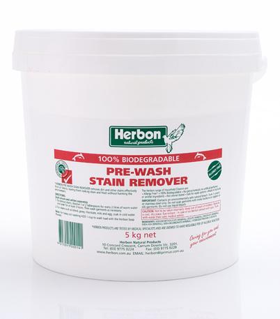 Herbon Prewash Stain Remover 5kg, Natural Laundry Detergent Australia
